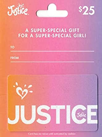 Amazon.com: Tarjeta de regalo de justicia.: Tarjetas de regalo