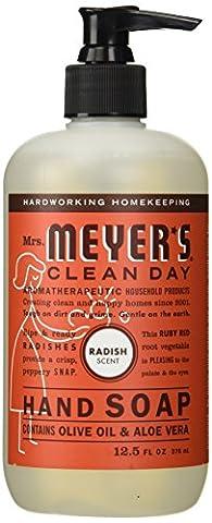 Mrs. Meyers Clean Day Liquid Hand Soap, 12.5 Fluid Ounce, Radish (Meyers Hand Soap Radish)