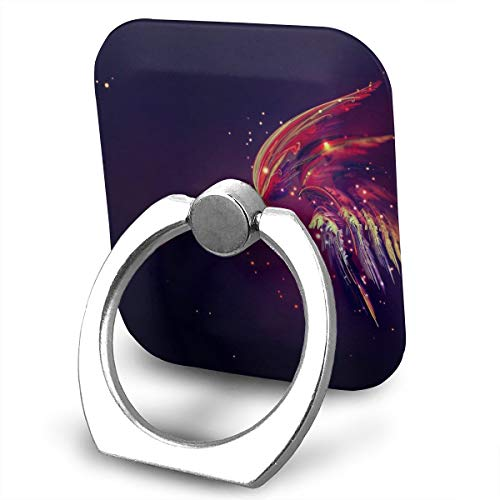 Square Cell Phone Finger Ring Holder,Purple Abstract Art Car Sticky Stand,Universal Smartphone Dock