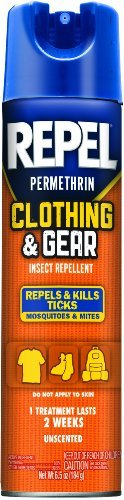 Repel Permethrin Clothing & Gear Insect Repellent Aerosol, 6