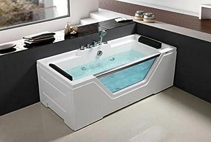 Bañera hidromasaje de baño 170 x 80 Full Optional doble Bomba cromoterapia calentador termostático