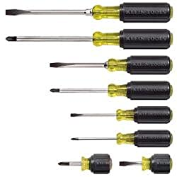 Klein Tools 85078 Cushion-Grip Screwdriver Set, 8-Piece