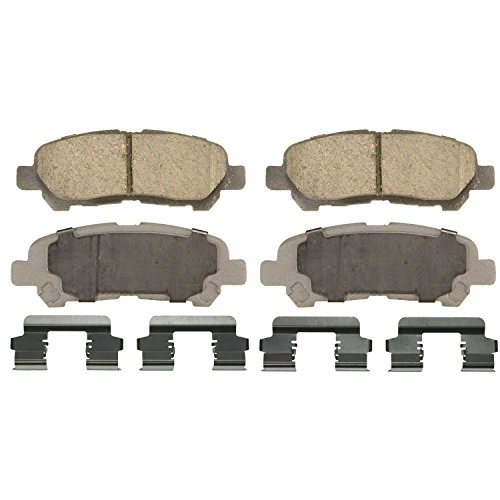 Toyota Highlander Brakes - Wagner ThermoQuiet QC1325 Ceramic Disc Pad Set With Installation Hardware, Rear