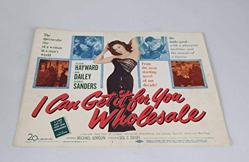 1951 I Can Get It For You Wholesale Movie Lobby -