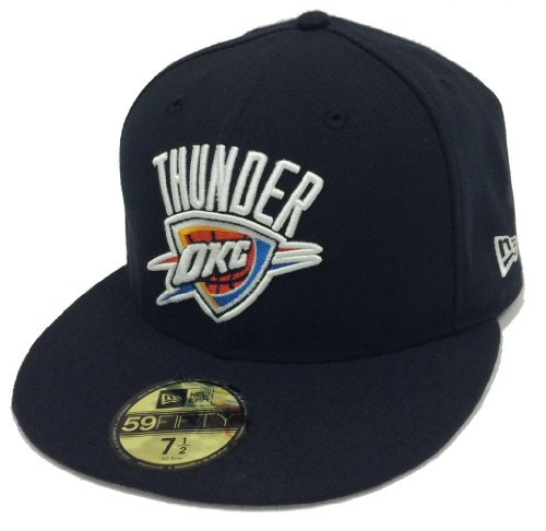 New Era 59Fifty Playoffs Oklahoma City Thunder Navy Fitted Cap (7 1/2)