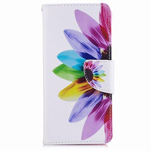 Yiizy Sony Xperia XA Custodia Cover, Petalo Design Sottile Flip Portafoglio PU Pelle Cuoio Copertura Shell Case Slot Schede Cavalletto Stile Libro Bumper Protettivo Borsa