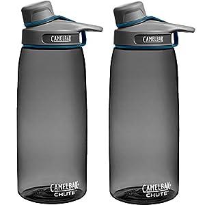 CamelBak Chute 1L Water Bottle Charcoal (2-Pack)
