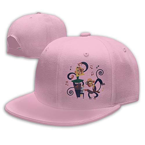 Sakanpo Anime Music Flat Visor Baseball Cap, Fashion Snapback Hat Pink