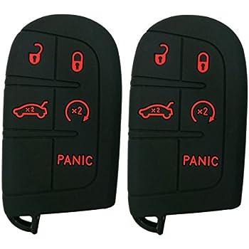 Amazon.com: 2Pcs Coolbestda Rubber 5 Buttons Smart Key Fob ...