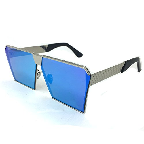 Laura Fairy Brand Square Metal Frame New Design Uv400 Unisex Sunglasses For Men And Momen (silver - Sun Funky Glasses