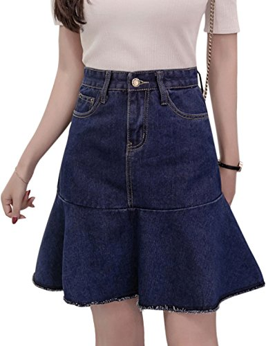 Button Fly Cotton Skirt - 5