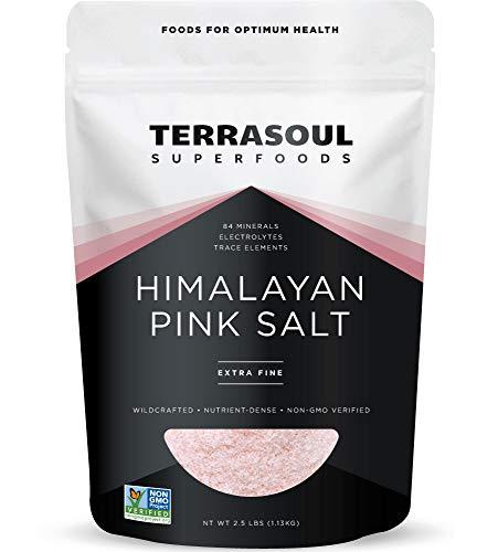 Terrasoul Superfoods Himalayan Pink Salt, 2.5 Lbs - Extra Fine | Trace Minerals (Himalayan Sea Salt Organic)