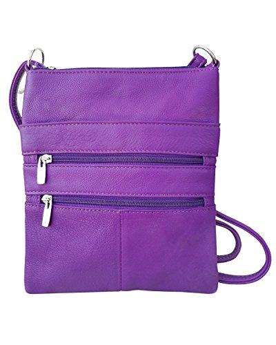 Cinque cinturino scomparti per Mini Roma viola in corpo borsa regolabile pelle il z61gSz