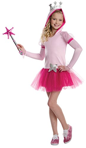 Glinda Halloween Costume Wicked (Rubies Wizard of Oz Glinda The Good Witch Hoodie Dress Costume, Child Medium)
