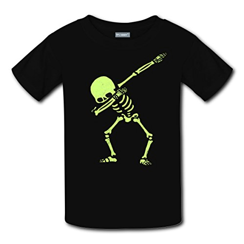 Hip-Hop Skull Original Design Funny Print T-shirts Kids Casual Top Best Choice for Boys Girls