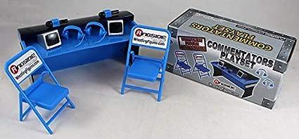 Ringside Exclusive Wrestling Figure Accessories Blue Commentators Playset
