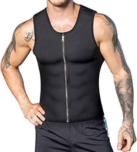 a1542e4dfc DoLoveY Men Waist Trainer Vest Weight Loss Hot Sweat Body Shaper Neoprene  Corset Zipper Sauna Tank Top Workout Shirt