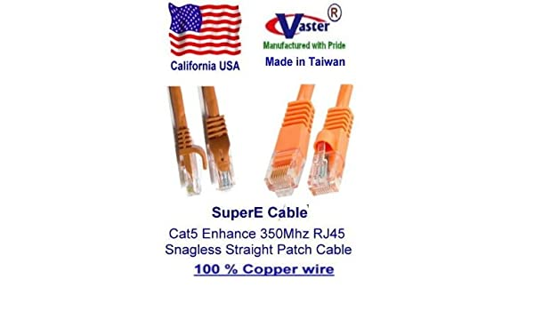 Yellow Ethernet Network Patch Cable 7 Ft UTP Cat5e SuperEcable -20679-3 Pcs//Pack UL 24Awg Pure Copper