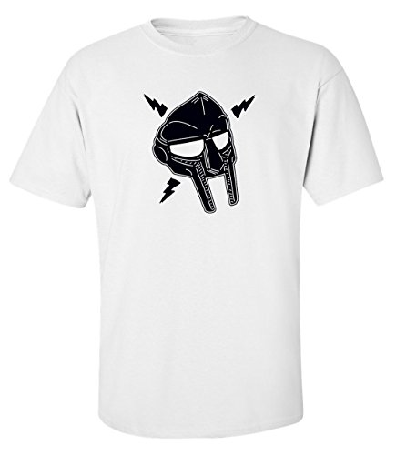 Mf doom lightning mask black rap hip hop dope t-shirt herren baumwoll weiss