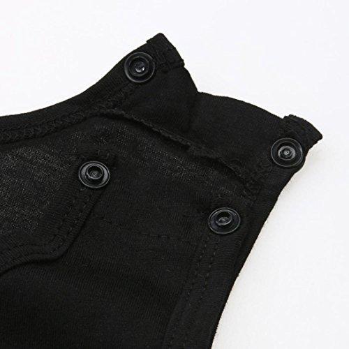 Baby Boys Clothes, Newborn Infant Baby Kids Boys Sleeveless Stripe Romper Jumpsuit (18-24 Months, Black)