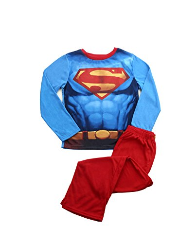 Justice League Big Boys' Superman Costume Poly Cape Set, Red, -