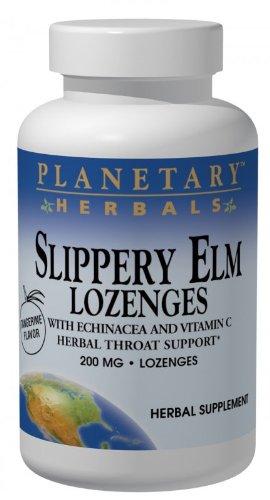 Planetary Herbals Slippery Elm Lozenges, 100 Count
