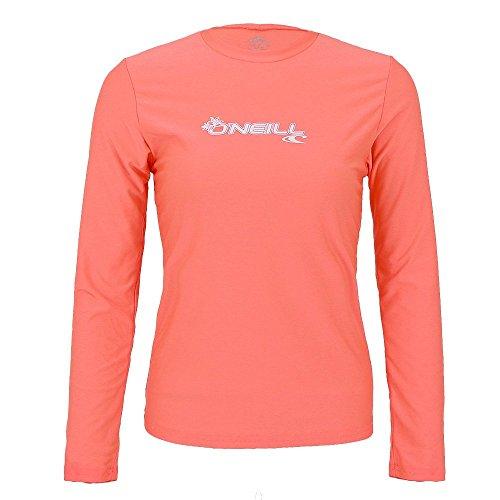O'Neill Women's Basic Skins Upf 50+ Long Sleeve Sun Shirt, Light Grapefruit, Medium