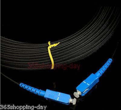 3 Meter 9.8 Ft Multimode FC//PC to SC//PC Fiber Optic Patch Cord Jumper Cable