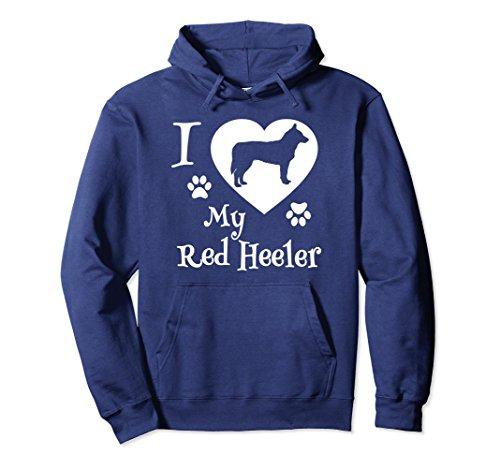 Unisex Red Heeler Hoodie I Love My Red Heeler Dog XL: Navy ()