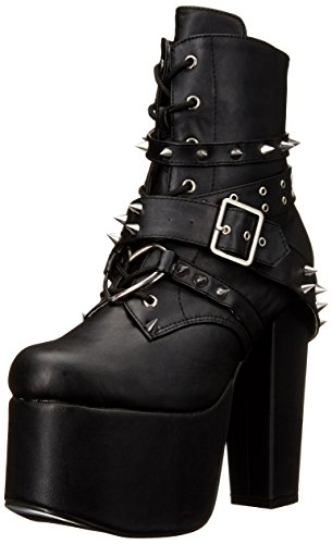 Bvl Leather Demonia Women's Vegan Black Tor700 Boot O64p4W1qw