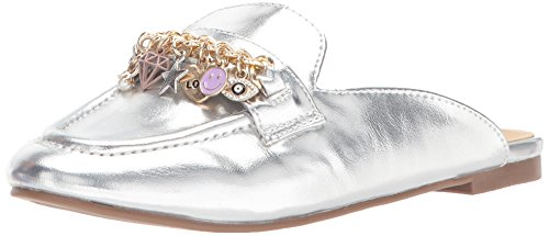 Steve Madden Girls' JJILLC Mule, Silver, 4 M US Big Kid