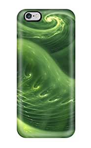 iphone 4 4s Case Cover - Slim Fit Tpu Protector Shock Absorbent Case (abstract Green )