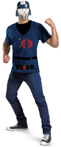 Cobra Costumes Commander (GI Joe Cobra Commander T-Shirt and Mask Halloween Costume - Adult Standard One)