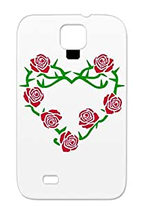 Roses And Thorns Heart Pink For Sumsang Galaxy S4 TPU Love Women Anti-shock Case