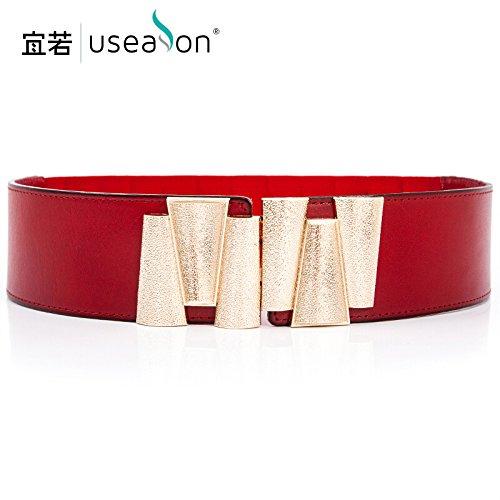 sheeted package Korea Wine wide red waist The elastic belt head Black female girdles stylish Women dresses wild ZHANGYONG waistband elegant decorated 0qwH6T