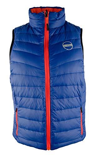 (Lauren Ralph Lauren Active Women's Petite Reversible Puffer Vest-BO-PM Blue/Orange)