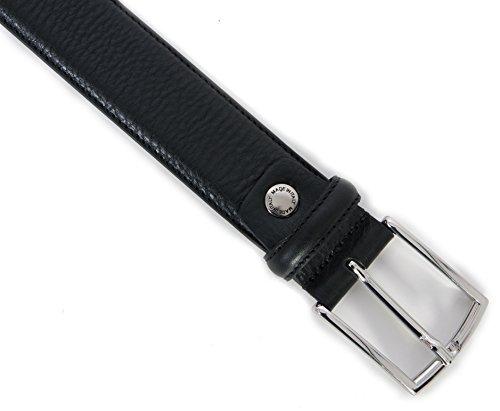 Italy Altezza Di Made Cintura Qualità Vera In Pelle 35mm Uomo Nera 100 8Xqvz