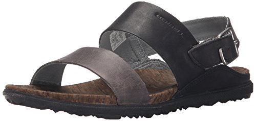Backstrap Merrell Around Sandali Nero Black Donna Town Nero xRrwqR