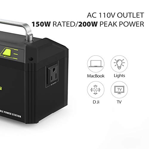 Rockpals 178Wh 48000mAh Portable Generator CPAP Battery Pack for Camping, 150W Solar Power Generator Power Station with 110V AC Outlet, 12V Car, USB Output for Home Emergency Backup by Rockpals (Image #1)