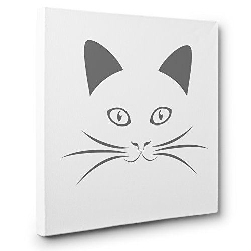 Minimal Cat Face CANVAS Wall Art Home Décor by Paper Blast