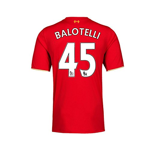 松韻軽蔑New Balance Balotelli #45 Liverpool Home Soccer Jersey 2015(Authentic name and number of player)/サッカーユニフォーム リヴァプールFC ホーム用 バロテッリ 背番号45 2015