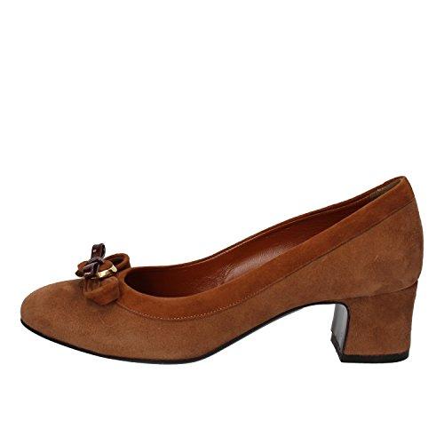MELLUSO - Zapatos de vestir de ante para mujer marrón marrón