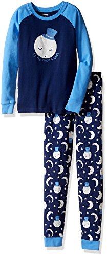 Gymboree Big Boys' Raglan Sleeve Tight-Fit Pajamas, Love You, 4
