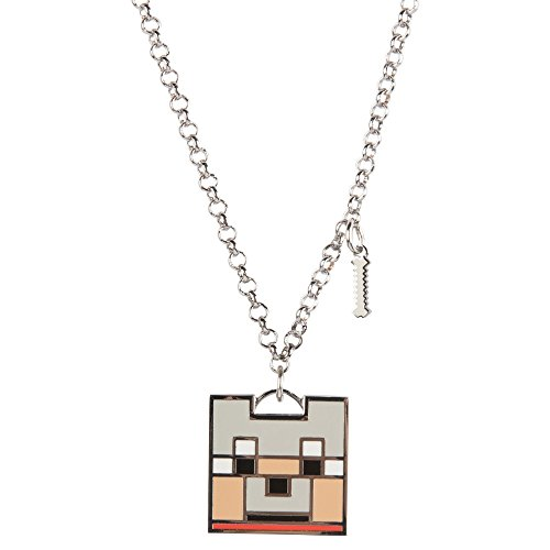 JINX Minecraft Enchanted Wolf Charm Necklace for Teen Girls and Women