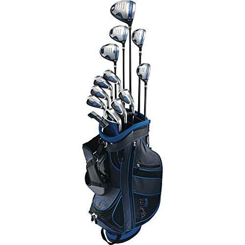 Top-Flite Golf Men's Tour 19 Piece Complete Box Bag Set Right Hand Black Blue ()