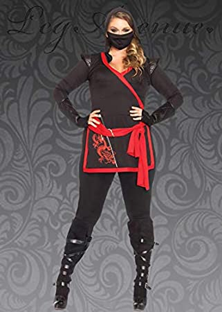 Magic Box Disfraz de guerrera Ninja Talla Grande para Mujer 1X/2X ...