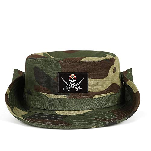 KFBNMNVKJ Pirate Human Skull Flag of Florida Flag Safari Cap with Men and Women Protection Graphic Home Fishing Hat