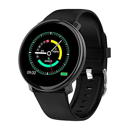 OPTA SB-139 Hebe Bluetooth Fitness Smart Watch All-in-One Activity Tracker Smart Band Blood Pressure Heart Rate Full Touch Screen Android/iOS Smart Phones for Men Women Teens (Black)