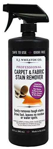 E.J. Wheaton Co. Carpet & Fabric Stain Remover, Quickly Removes Tough Stains, Dries Fast, Leaves No Water Spots, Made in USA (32 OZ) (How Watermark Remove)