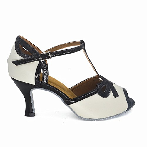 "Misu Frauen Peep Toe Sandalen Latin Salsa Tango Praxis Ballroom Dance Schuhe mit 2,75 ""Ferse"